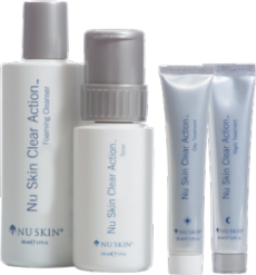 Does Nu Skin have any nutritional products with skin benefits?