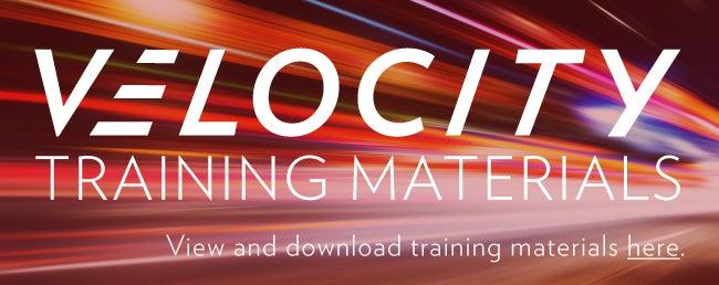 Velocity Training Materials