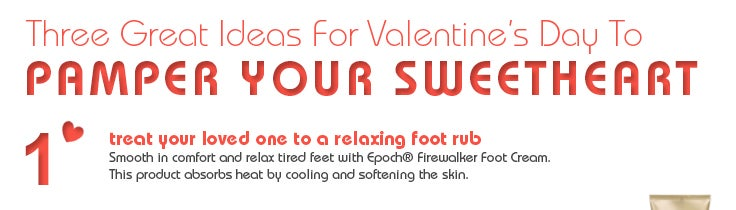 #1 treat your loved one to a relaxing foot rub