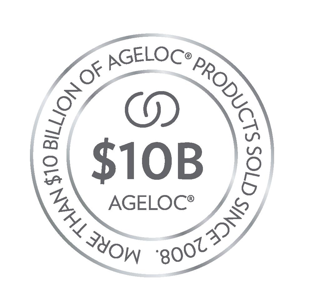 Logotipo del premio a la marca de 10mil millones de dólares ageLOC