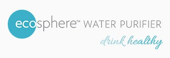 Logo of EcoSphere Water Purifier with tagline