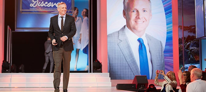 Tyler Whitehead speking at the Nu Skin 2016 Americas Convention.