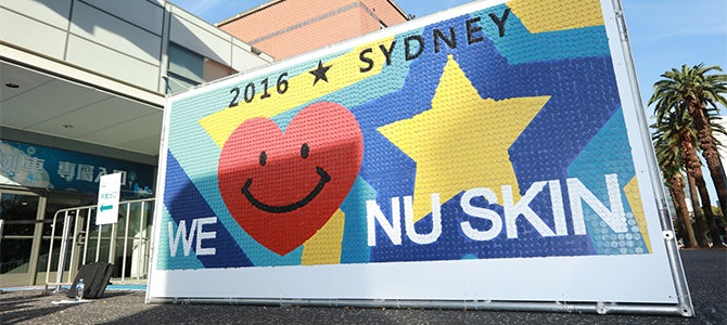 Nu Skin record breaking smile mosaic