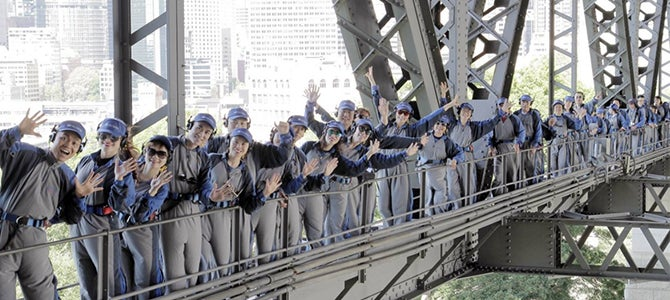 Nu Skin distributors set climbing record on Sydney Harbor Bridge