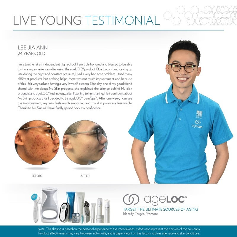 Nu Skin Live Young Testimonial Lee Jia Ann