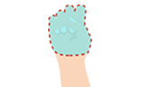 Illustration of 1 fistful portion