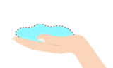 Illustration of 1 handful portion
