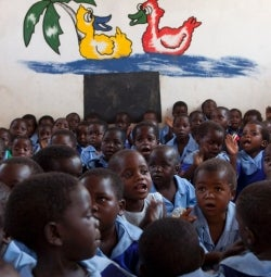 Nourish the Children - Malawi children in school