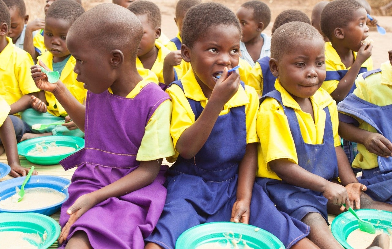 NTC Malawi children eating
