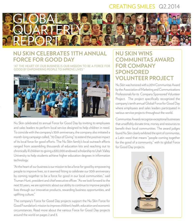 Q2 CSR Quarterly Report 2014-1