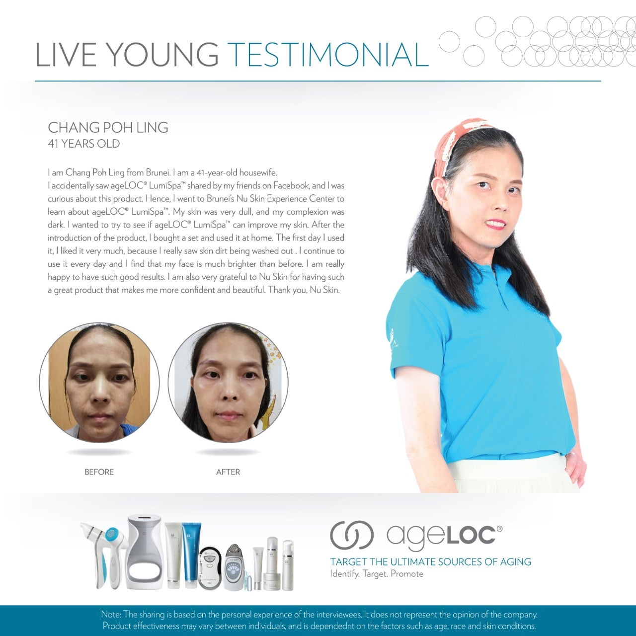 Nu Skin Live Young Testimonial Chang Poh Ling