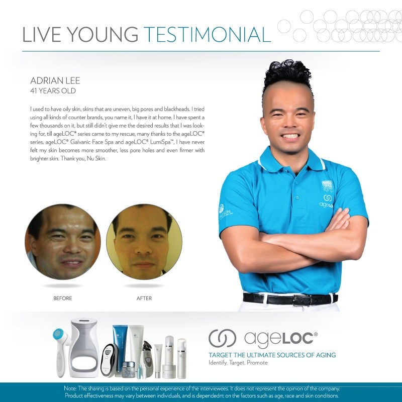 Nu Skin Live Young Testimonial Adrian Lee