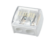 Dual Pencil Sharpener - White