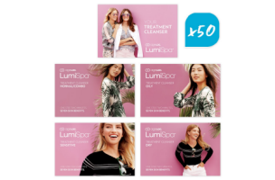 LumiSpa® Treatment Cleanser Product Cards 50pk